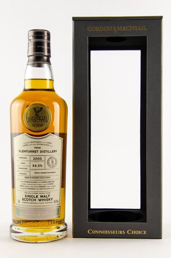 Glenturret 2005/2018 Refill Sherry Hogshead - Gordon & MacPhail (GM) - Batch 18/050