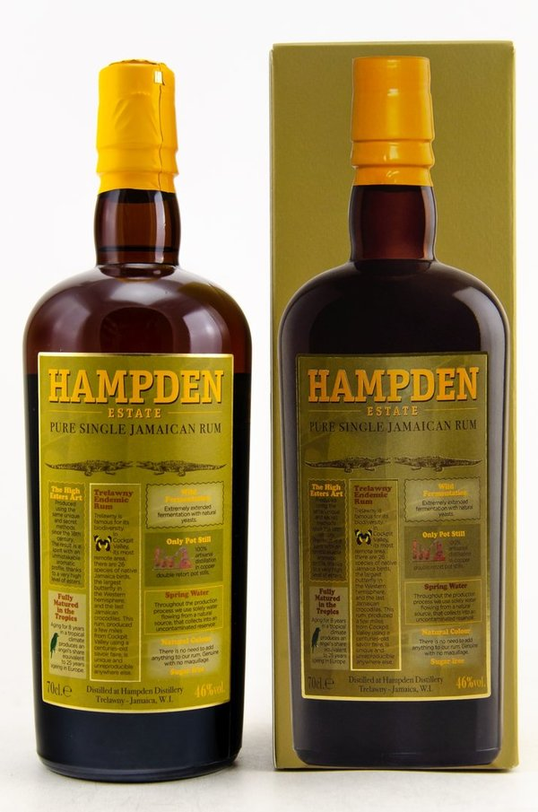 HAMPDEN - Pure Single Jamaican Rum 46% - BATCH 1