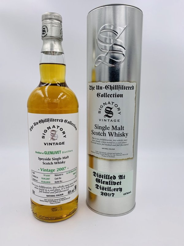 Glenlivet 2007/2018 Sherry Butt Fass 900255 Signatory Vintage (SV) The Un-Chillfiltered Collection