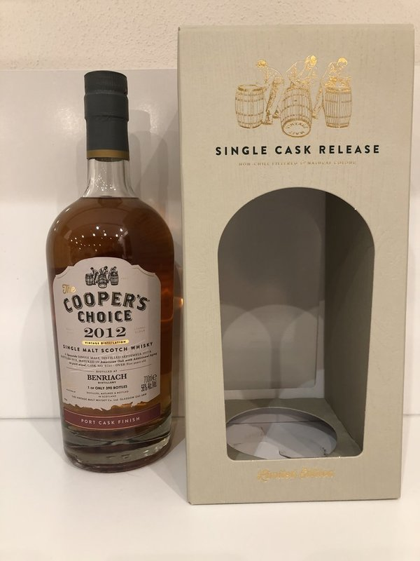 BenRiach 2012/2018 -  American Oak + Port Cask Finish - Coopers Choice (CC)