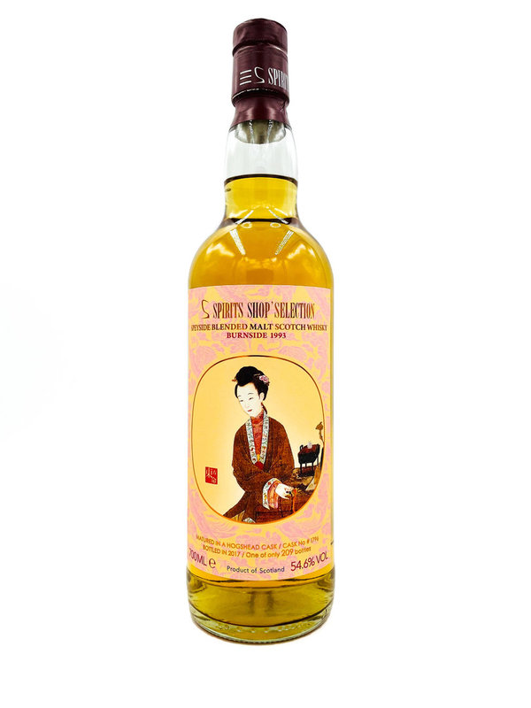 Burnside 1993/2017 - Bourbon Hogshead - S-Spirits Shop Selection (Taiwan)