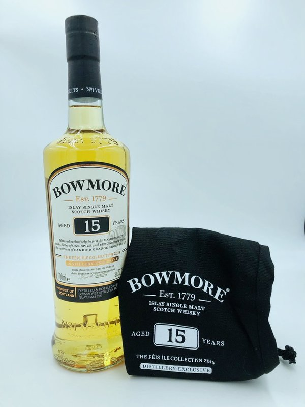 Bowmore 15 Jahre - First fill bourbon - Feis Ile 2019