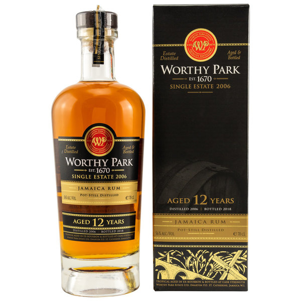 Worthy Park 12 Jahre - Vintage 2006 - 1st Fill White American Oak