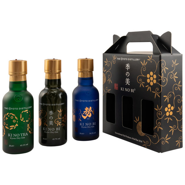 KINOBI - Kyoto Dry Gin - Ki No Bi - Collection 3x 200ml (Japan)
