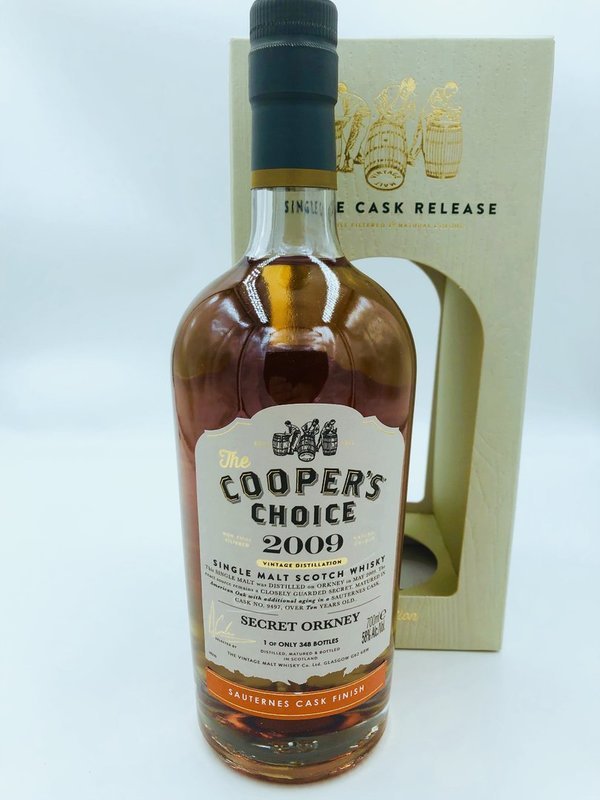 Secret Orkney 2009/2019 - Sauternes Cask Finish - Cooper's Choice (CC)