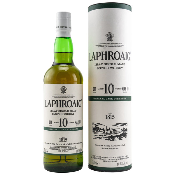 Laphroaig 10 Cask Strength - Batch 011 - Green Stripe