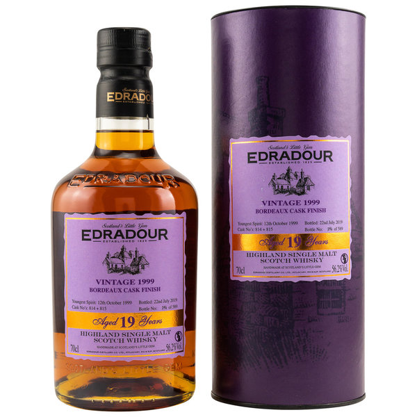 Edradour 1999/2019 19 Jahre Bordeaux Wine Cask Finish Casks 814+815