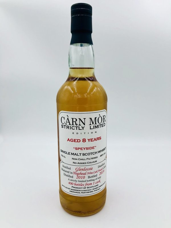 Glenlossie 2010/2019 - Wine Cask Finish - Càrn Mòr (CM) - Strictly Limited Edition