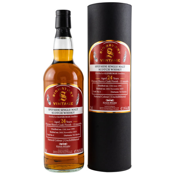 Glenburgie 1995/2019 - Oloroso Finish Signatory Vintage (SV) for Germany Cask 6
