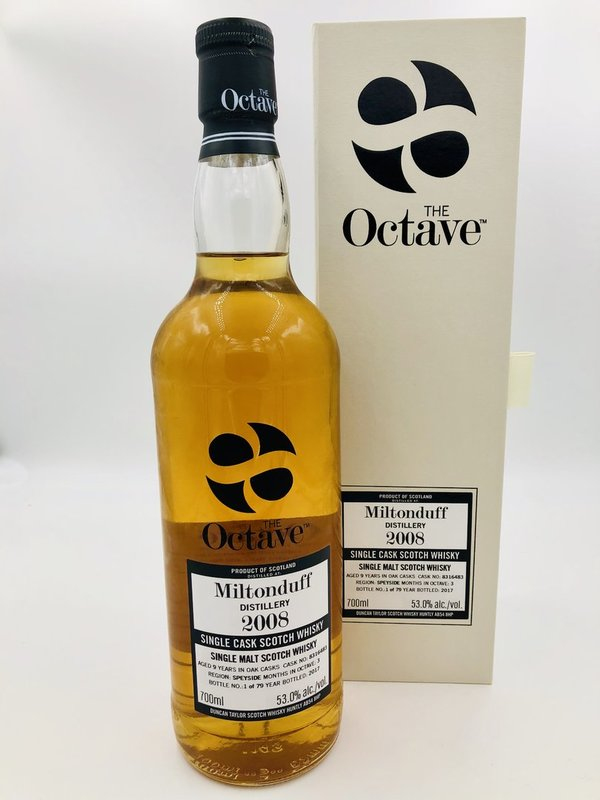 Miltonduff 2008/2017 - 9 Jahre - Sherry Octave Finish - The Octave Duncan Taylor