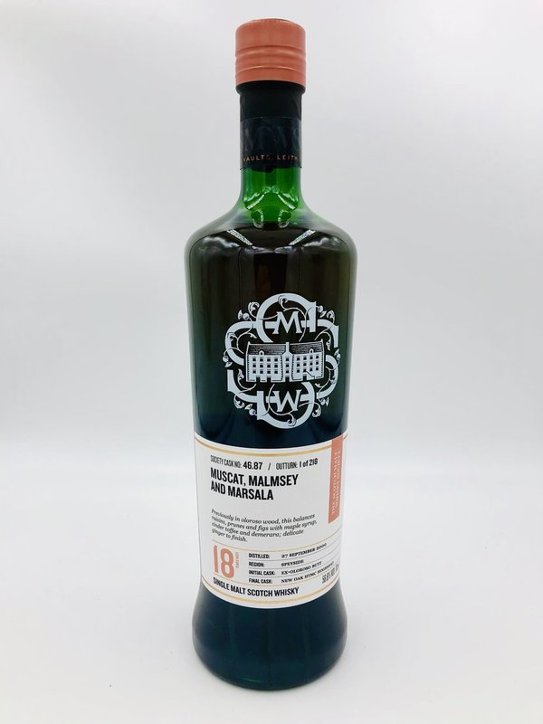 Glenlossie 2000/2019 SMWS 46.87 - Oloroso Sherry Butt & New HTMC Finish