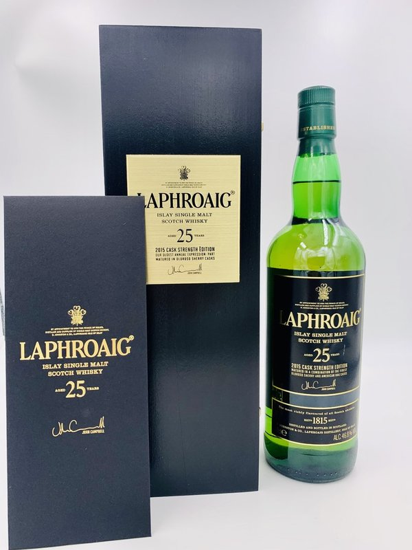 Laphroaig Cask Strength 25 Jahre - Edition 2015 - Bourbon & Oloroso Sherry Barrels