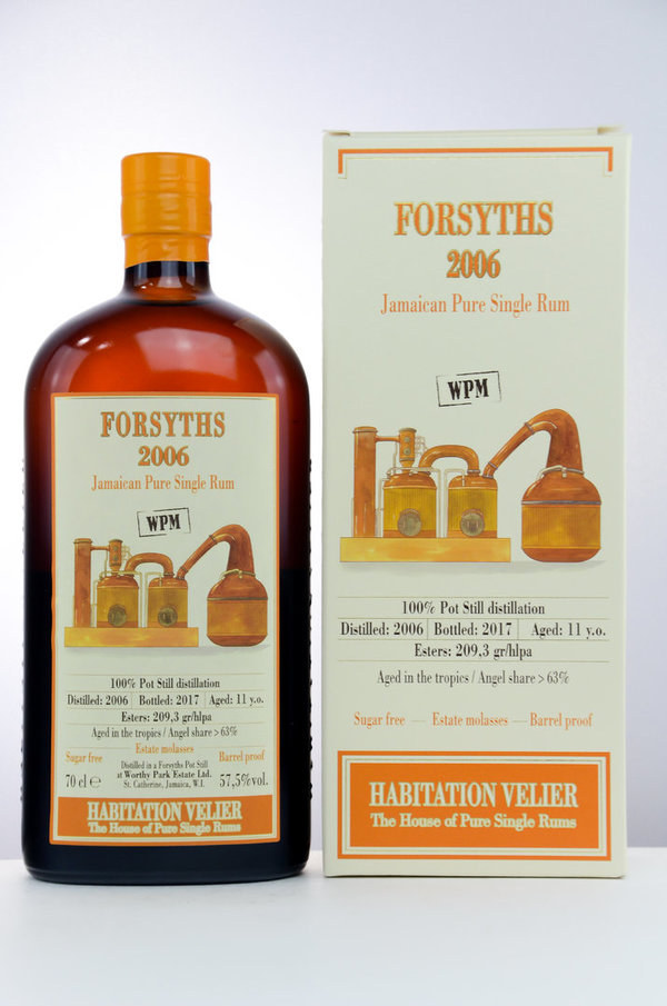 Worthy Park FORSYTHS 2006/2017 Jamaica Pure Single Rum WPM - Habitation Velier - 10 y.o.