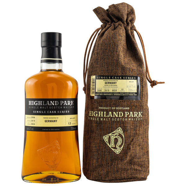 Highland Park 2006/2019 12 y.o. - Sherry Butt - Single Cask 6824 - Series for Germany