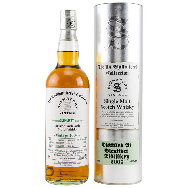 Glenlivet 2007/2020 Sherry Butt Fass 900239 Signatory Vintage (SV) The Un-Chillfiltered Collection