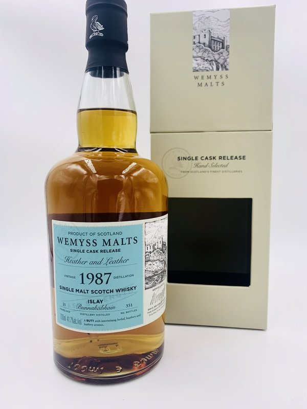 Bunnahabhain 1987/2018 Wemyss Malts (Wy) - Butt - Heather and Leather