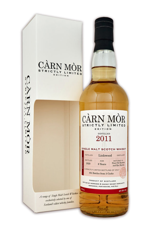 Linkwood 2011/2020 - First Fill Bourbon & Rye Barrels - Càrn Mòr (CM) - Strictly Limited Edition