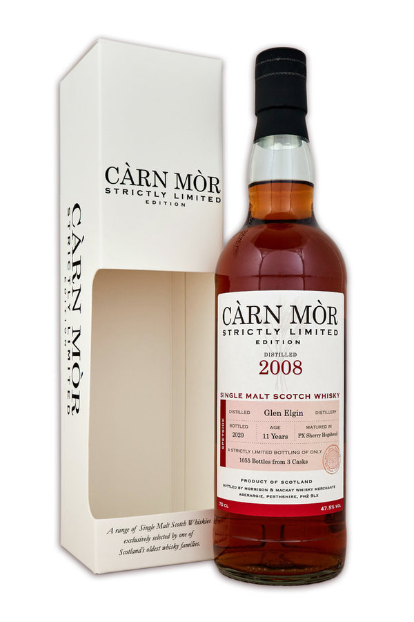 Glen Elgin 2008/2020 - PX Sherry Hogsheads - Càrn Mòr (CM) - Strictly Limited Edition