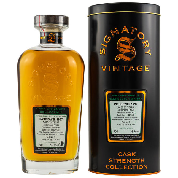 Inchgower 1997/2020 - Sherry Butt Finish - Signatory Vintage Cask 2