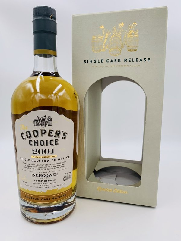 Inchgower 2001/2017 -  Ex-Bourbon Cask - Coopers Choice (CC)