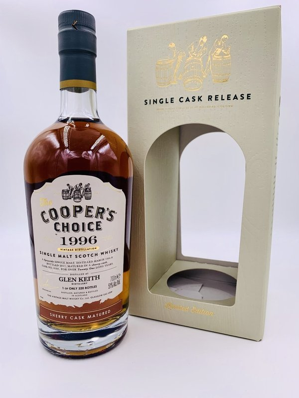 Glen Keith 1996/2017 -  Sherry Cask - Coopers Choice (CC)