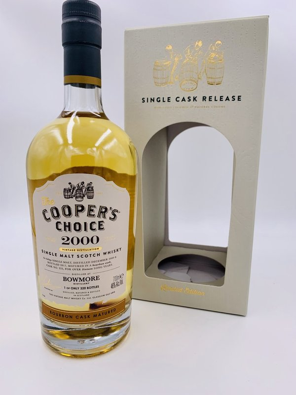 Bowmore 2000/2017 -  Bourbon Cask - Coopers Choice (CC)