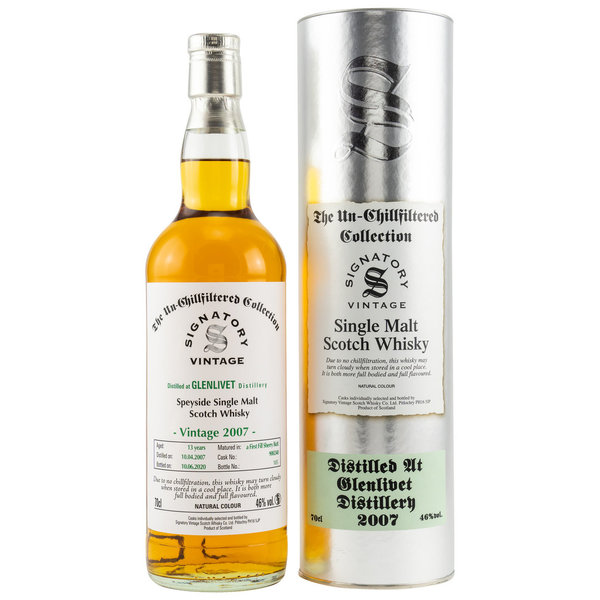 Glenlivet 2007/2020 Sherry Butt Fass 900240 Signatory Vintage (SV) The Un-Chillfiltered Collection
