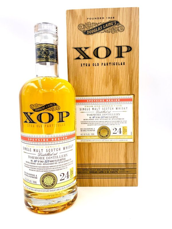 Tormore 24 Jahre 1995/2019 - Refill Hogshead - XOP Xtra Old Particular - Douglas Laing (DL)