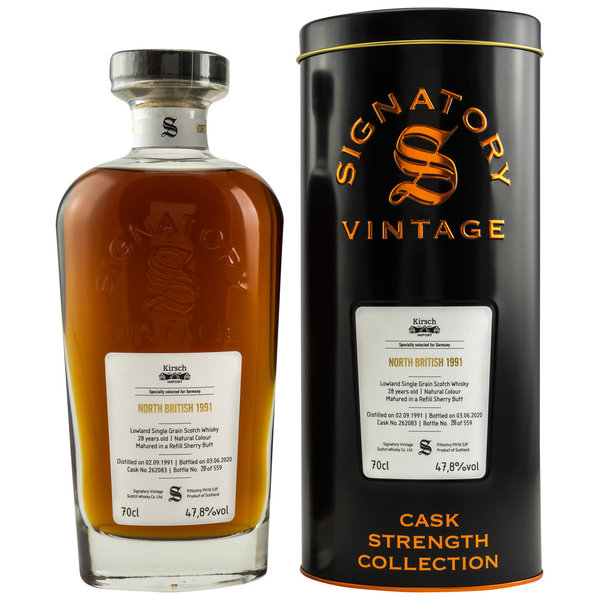 North British 1991/2020 - Refill Sherry Butt - Signatory Vintage Cask 262083
