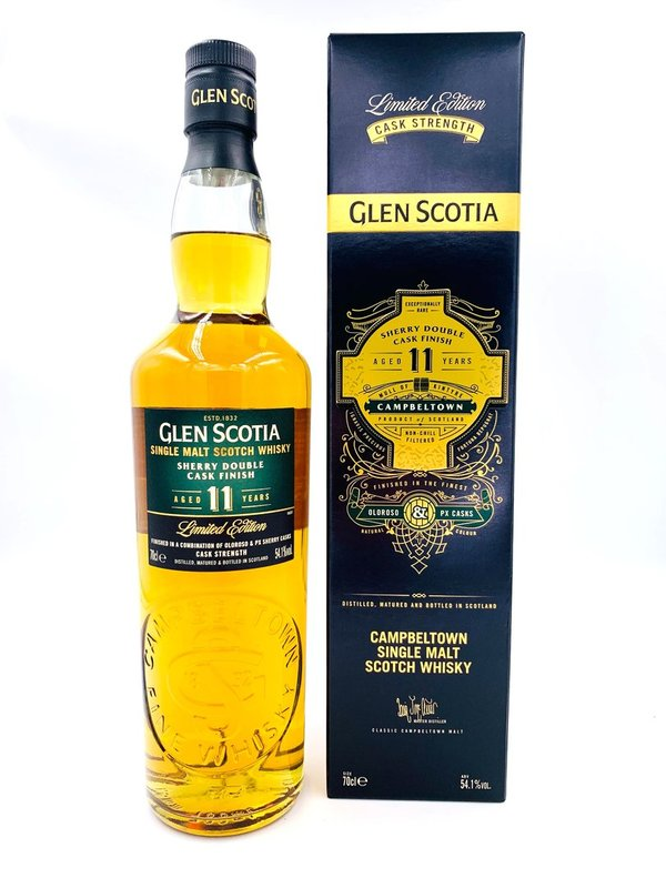 Glen Scotia 11 Jahre - Limited Edition - Sherry Double Cask Finish - Cask Strength