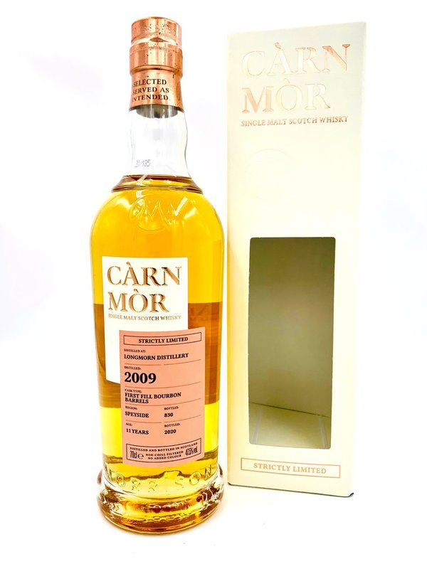 Longmorn 2009/2020 - 11 Jahre - First Fill Bourbon Barrel - Càrn Mòr (CM) - Strictly Limited Edition