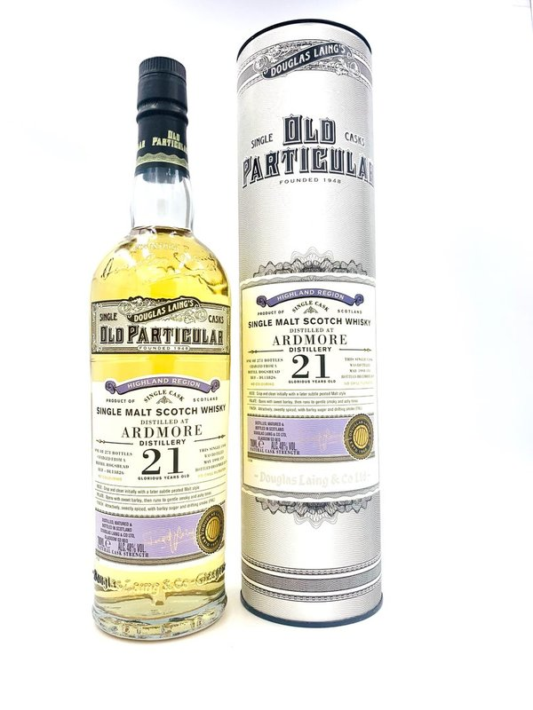 Ardmore 21 Jahre 1998/2020 - Refill Hogshead - Old Particular - Douglas Laing (DL)