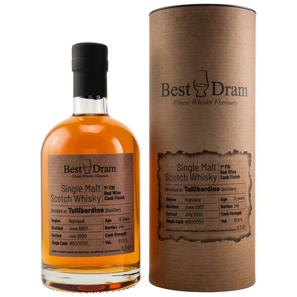 Tullibardine 2007/2020 - Best Dram (BD) - First Fill Red Wine Cask Finish