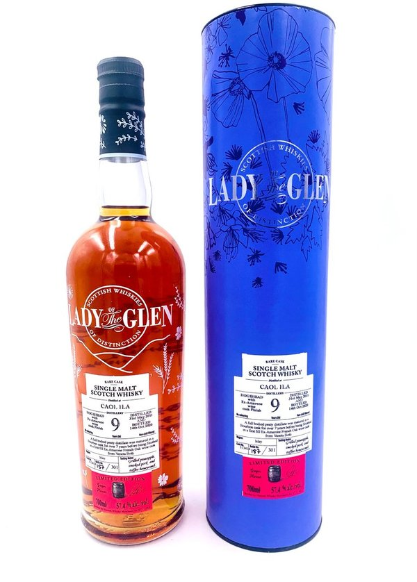 Caol Ila 2010/2020 - 9 Jahre - 1st Fill Amarone Wine Cask Finish - Lady of the Glen (LotG) -