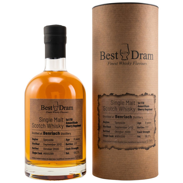 BenRiach 2012/2020 - Best Dram (BD) - First Fill Amontillado Sherry Hogshead 800299