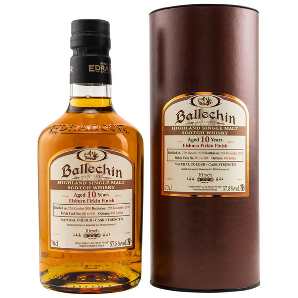 Ballechin 2010/2020 - 10 y.o. - ElsBurn Firkin Finish - exclusive Release for Kirsch Import