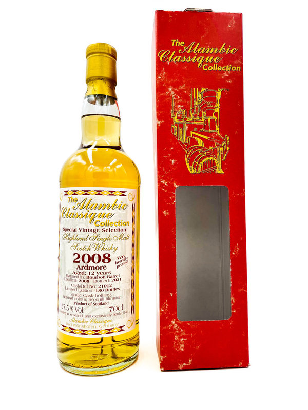 Ardmore 2008/2020 12 Jahre - Very heavily Peated - Bourbon Barrel - Alambic Classique (AC)